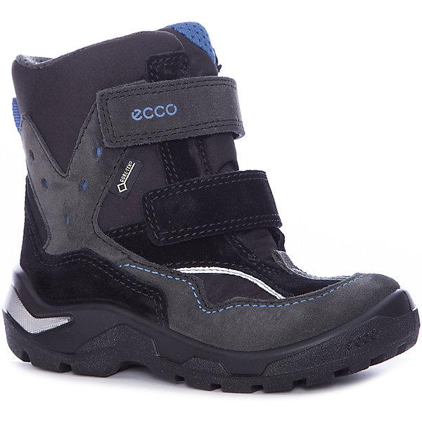 Ботинки ECCO для мальчикаБотинки<br>Характеристики товара:<br><br>• цвет: черный<br>• внешний материал: замша, текстиль<br>• внутренний материал: искусственный мех<br>• стелька: полиэстер<br>• подошва: полимер<br>• сезон: демисезон<br>• мембранные<br>• температурный режим: от -10 до +10<br>• особенности модели: спортивный стиль<br>• застежка: липучки<br>• защита мыса<br>• подошва не скользит<br>• анатомические<br>• высокие<br>• страна бренда: Дания<br>• страна изготовитель: Китай<br><br>Легкие детские ботинки из-за наличия мембраны Gore-Tex не пропускают влагу, но позволяют коже дышать. Теплые ботинки для детей от бренда ECCO легко надеваются благодаря удобной форме. Оригинальные мембранные ботинки ECCO не скользят благодаря специально разработанному дизайну подошвы. <br><br>Ботинки ECCO (ЭККО) можно купить в нашем интернет-магазине.<br>Ширина мм: 262; Глубина мм: 176; Высота мм: 97; Вес г: 427; Цвет: серый; Возраст от месяцев: 36; Возраст до месяцев: 48; Пол: Мужской; Возраст: Детский; Размер: 27,30,29,28; SKU: 7130024;