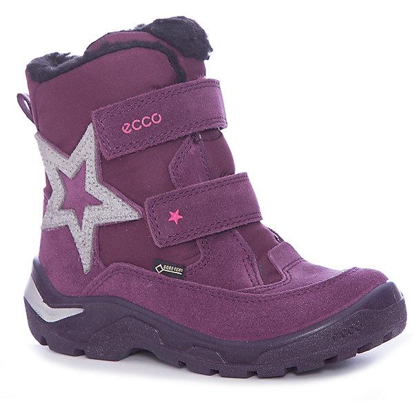 Купить Ботинки ECCO для девочки, Индонезия, красный, Женский