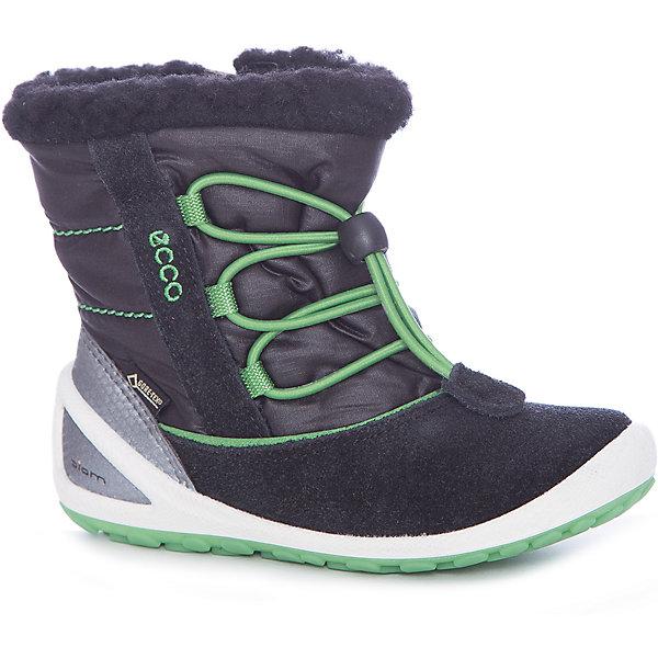Ботинки ECCO для девочкиБотинки<br>Характеристики товара:<br><br>• цвет: черный<br>• внешний материал: кожа, текстиль<br>• внутренний материал: шерсть, полиэстер<br>• стелька: кожа<br>• подошва: полимер<br>• сезон: зима<br>• мембранные<br>• температурный режим: от -30 до 0<br>• особенности модели: спортивный стиль<br>• застежка: шнурки<br>• защита мыса <br>• подошва не скользит<br>• анатомические<br>• страна бренда: Дания<br>• страна изготовитель: Китай<br><br>Эти детские ботинки из-за наличия мембраны Gore-Tex не пропускают влагу, но позволяют коже дышать. Теплые ботинки для детей от бренда ECCO быстро надеваются благодаря удобной форме. Оригинальные мембранные ботинки ECCO не скользят благодаря специально разработанному дизайну подошвы. <br><br>Ботинки ECCO (ЭККО) можно купить в нашем интернет-магазине.<br>Ширина мм: 262; Глубина мм: 176; Высота мм: 97; Вес г: 427; Цвет: черный; Возраст от месяцев: 15; Возраст до месяцев: 18; Пол: Женский; Возраст: Детский; Размер: 22,26,25,24,23; SKU: 7130069;