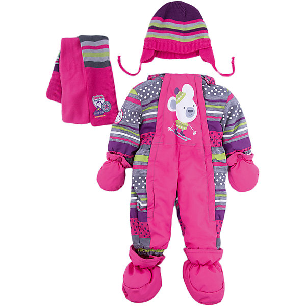 Комбинезон BLIZZ для девочкиВерхняя одежда<br>Характеристики товара:<br><br>• цвет: лиловый<br>• комплектация: комбинезон, варежки, пинетки, шарф, шапка<br>• состав ткани: полиэстер<br>• подкладка: флис <br>• утеплитель: тек-полифилл<br>• сезон: зима<br>• мембранное покрытие<br>• температурный режим: от -40 до 0<br>• водонепроницаемость: 5000 мм <br>• паропроницаемость: 5000 г/м2<br>• плотность утеплителя: 220 г/м2<br>• пинетки и рукавицы: съемные<br>• капюшон: несъемный, с мехом<br>• застежка: молния<br>• страна бренда: Канада<br>• страна изготовитель: Китай<br><br>Зимний комбинезон для ребенка укомплектован стильными варежками, пинетками, шарфом и шапкой. Верх детского комбинезона также обеспечит защиту от грязи, влаги и ветра. Подкладка детского комбинезона для зимы приятная на ощупь. Практичный мембранный комбинезон Blizz для девочки сделан легкого, но теплого материала. <br><br>Комбинезон Blizz (Близ) для девочки можно купить в нашем интернет-магазине.<br>Ширина мм: 356; Глубина мм: 10; Высота мм: 245; Вес г: 519; Цвет: лиловый; Возраст от месяцев: 12; Возраст до месяцев: 15; Пол: Женский; Возраст: Детский; Размер: 80,86,92; SKU: 7131307;