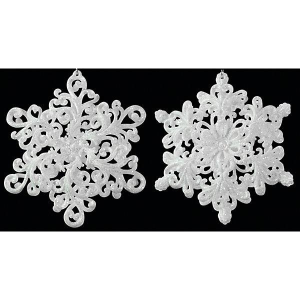 Erich Krause Украшение на елку ErichKrause Снежинка, 13 см (резная) украшение декоративное снежинка светящаяся на присоске led 10 см пластик