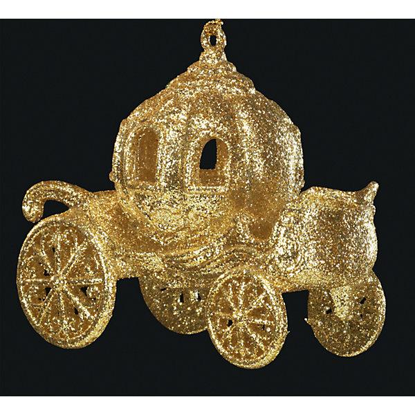 Украшение на елку ErichKrause Карета, 11,5 см (золотая)Ёлочные игрушки<br>Характеристики:<br><br>• размер: 11,5 см.<br>• вес: 70 гр.<br><br>Новогоднее украшение «Золотая карета» от ErichKrause (ЭрихКраузе) выполнено из высококачественного материала. Карета по всей поверхности декорирована нежнейшими блестками цвета шампанского. С помощью специальной петли украшение можно подвесить в любом понравившемся месте. Но, конечно же, удачнее всего такая игрушка будет смотреться на праздничной елке.<br><br>Новогодние украшения приносят в дом волшебство и ощущение праздника. Создайте в своем доме атмосферу веселья и радости, украшая всей семьей новогоднюю елку нарядными игрушками, которые будут из года в год накапливать теплоту воспоминаний.<br><br>Украшение КАРЕТА золотая 11.5см можно купить в нашем интернет-магазине.<br>Ширина мм: 115; Глубина мм: 90; Высота мм: 60; Вес г: 70; Возраст от месяцев: -2147483648; Возраст до месяцев: 2147483647; Пол: Унисекс; Возраст: Детский; SKU: 7132392;