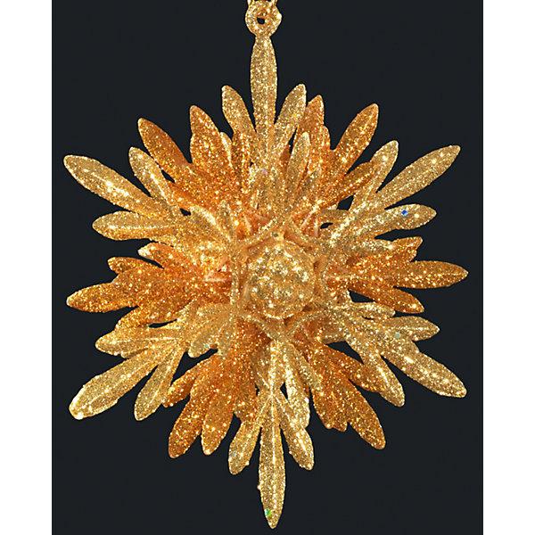 Erich Krause Украшение на елку ErichKrause Золотые лепестки, 9,5 см erich krause украшение на елку erichkrause санта с колокольчиком 6 см