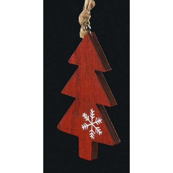Erich Krause Украшение на елку ErichKrause Елочка, 10 см (красная) erich krause украшение на елку erichkrause санта с колокольчиком 6 см