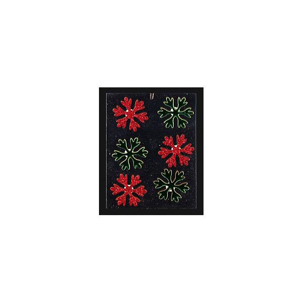 Набор украшений на елку ErichKrause Новогодняя снежинка на липучке, 4 см 6 штукЁлочные игрушки<br>Характеристики:<br><br>• в наборе: 6 снежинок на липучках<br>• диаметр: 4 см.<br>• упаковка: хедер с европодвесом, подложка в полибеге<br><br>Набор состоит из шести снежинок яркого зеленого и красного цветов. Снежинки покрыты сверкающими блестками. Благодаря наличию липучки с тыльной стороны, изделия легко отлепляются от подложки и приклеиваются на любую поверхность.<br><br>Набор предназначен для творческих работ ребенка. С его помощью можно легко украсить открытки, подарки, а также оформить детский уголок, привнеся в него новогоднюю атмосферу.<br><br>Набор 6 новогодних снежинок на липучке 4 см можно купить в нашем интернет-магазине.<br>Ширина мм: 120; Глубина мм: 5; Высота мм: 170; Вес г: 20; Возраст от месяцев: -2147483648; Возраст до месяцев: 2147483647; Пол: Унисекс; Возраст: Детский; SKU: 7132440;