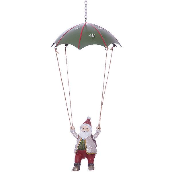 Erich Krause Украшение на елку ErichKrause Санта на парашюте, 14 см украшение для интерьера новогоднее erich krause ангел музыки с гитарой 9 см