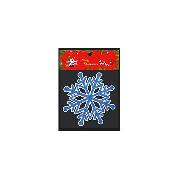 Erich Krause Наклейка на окно ErichKrause Снежинка, 14х14 см (синяя) волшебная страна наклейка на окно роза