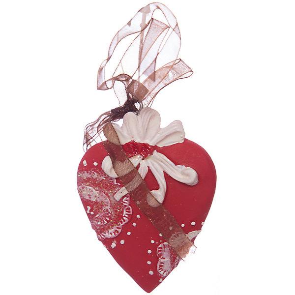 Erich Krause Украшение на елку ErichKrause Сердце узорное, 7 см erich krause украшение на елку erichkrause санта с колокольчиком 6 см