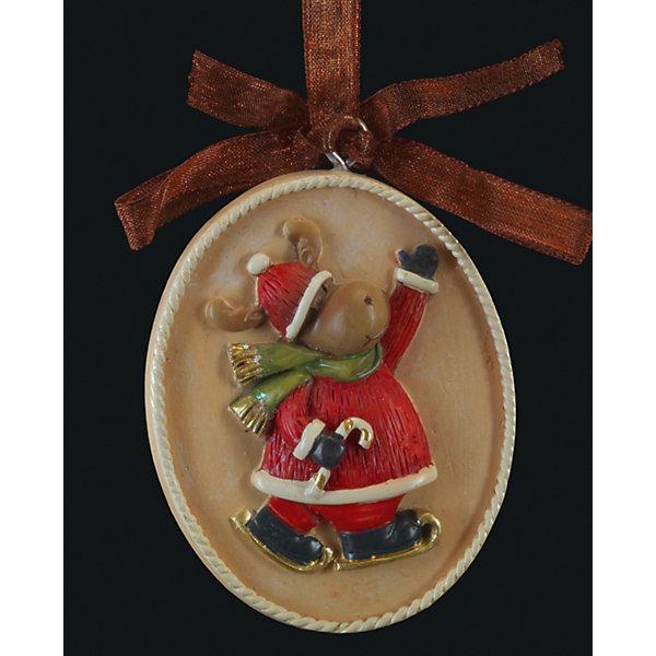 Erich Krause Украшение на елку ErichKrause Медальон с оленем, 5 см erich krause украшение на елку erichkrause санта с колокольчиком 6 см