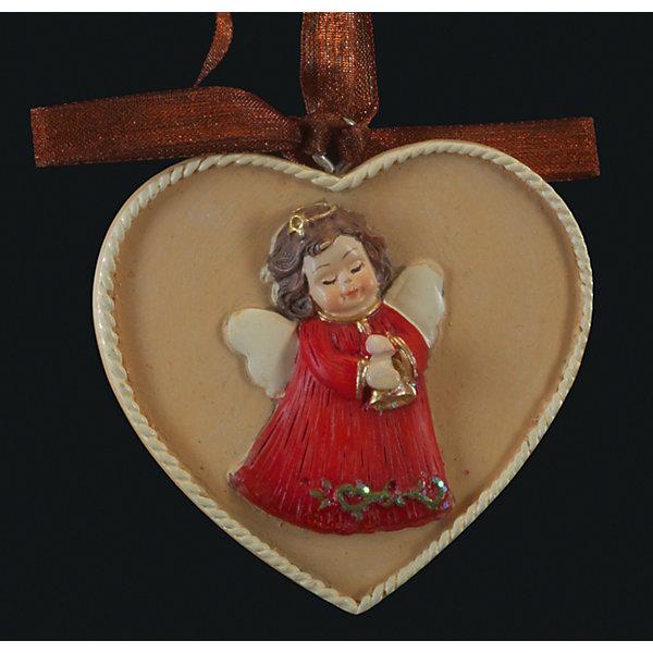 Erich Krause Украшение на елку ErichKrause Медальон с ангелом, 6 см украшение для интерьера новогоднее erich krause ангел музыки с гитарой 9 см