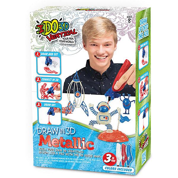 Набор 3D-ручек Redwood Вертикаль МеталликНаборы 3D ручек<br>Характеристики товара:<br><br>• в комплекте: 3 ручки, 3 шаблона, пластиковый лист, насадка-подсветка, инструкция;<br>• цвета: белый, синий, красный;<br>• возраст: от 8 лет;<br>• материал: пластик, металл;<br>• батарейки: LR44 - 3 шт. (входят в комплект);<br>• размер упаковки: 22х7х28 см;<br>• вес: 460 грамм;<br>• страна бренда: США.<br><br>3D ручка «Вертикаль» подарит детям удивительную возможность создать необычные фигуры самостоятельно. Данный набор рекомендован детям старше восьми лет. В комплект входят 3 ручки (белая, синяя, красная), насадка с подсветкой и трафареты на тему космоса. Полимеры выполнены в ярких цветах с эффектом «металлик». Ручка не имеет проводов и не нагревается в процессе использования, что делает ее безопасной для детей.<br><br>Жидкий полимер ручки расположен в съемном картридже. Для отверждения используется съемная насадка с подсветкой. Ручка имеет эргономичную форму и легко располагается в руке, благодаря чему ребенок сможет держать ручку одной рукой, а другой - насадку для отверждения фигурок. Толщину линий можно регулировать нажатием на стенки картриджа. Возможны несколько видов использования ручки: рисование в воздухе, рисование отдельных элементов с последующим объединением.<br><br>3D ручка «Вертикаль: Металлик» Redwood 3D (Редвуд 3Д) можно купить в нашем интернет-магазине.<br>Ширина мм: 220; Глубина мм: 70; Высота мм: 280; Вес г: 430; Возраст от месяцев: 96; Возраст до месяцев: 2147483647; Пол: Мужской; Возраст: Детский; SKU: 7133318;