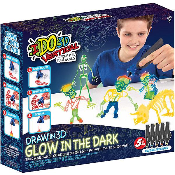 Набор 3D-ручек Redwood Вертикаль. Магия света Зомби (светится в темноте)Наборы 3D ручек<br>Характеристики товара:<br><br>• в комплекте: 5 ручек, трафареты, насадка-подсветка, инструкция;<br>• цвета: желтый, зеленый, оранжевый, синий, красный;<br>• возраст: от 8 лет;<br>• материал: пластик, металл;<br>• батарейки: LR44 - 3 шт. (входят в комплект);<br>• размер упаковки: 33х7,6х31 см;<br>• вес: 600 грамм;<br>• страна бренда: США.<br><br>«Вертикаль: Магия света» - удивительный набор 3D ручек, с помощью которого ребенок сможет создать фигурки зомби, которые, к тому же, будут устрашающе светиться в темноте. В комплект входят 5 ручек разных цветов, трафареты на тему зомби, насадка с подсветкой. Ручки не имеет проводов, не нагреваются во время работы, что обеспечивает безопасность ребенка во время игры. Набор рекомендован детям от восьми лет.<br><br>Мягкий картиридж ручки заполнен жидким полимером. Для его затвердевания необходима насадка, входящая в комплект. Ребенок сможет самостоятельно использовать насадку, держа ручку в одной руке, а насадку в другой. При необходимости можно воспользоваться помощью родителей. Рисование возможно в двух вариантах: рисование в воздухе с использованием насадки, рисование отдельных элементов с их последующим соединением. Толщина линии регулируется нажатием на стенки картриджа.<br><br>3D ручку «Вертикаль: Магия света», Redwood 3D (Редвуд 3Д) можно купить в нашем интернет-магазине.<br>Ширина мм: 310; Глубина мм: 76; Высота мм: 330; Вес г: 600; Возраст от месяцев: 96; Возраст до месяцев: 2147483647; Пол: Унисекс; Возраст: Детский; SKU: 7133319;