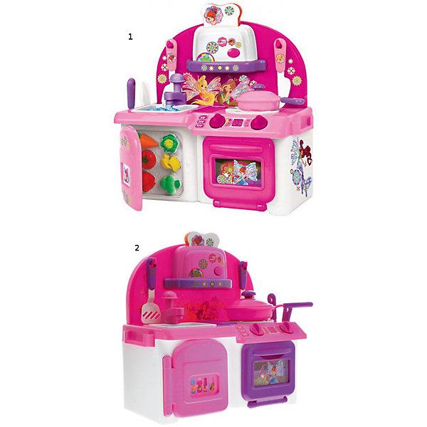Кухня Winx со светом и звуком, с водой и аксессуарами.Детские кухни<br>На миниатюрной кухне «Винкс» девочка может «готовить» сама или предоставить это дело своим любимым куклам. Набор включает плиту, мойку, морозилку, полку с тостером и различные аксессуары, вроде посуды и муляжей продуктов. Все дверцы открываются, а ручки поворачиваются. Если включить плиту, то на конфорке загорится свет, как от горячей температуры. В духовку можно положить жаркое. А из мойки течет настоящая вода. Работает и тостер. Кусочек пластикового хлеба входит внутрь и «готовится», а чтобы вытащить его, нужно нажать на тостере кнопку. Кухня окрашена в ярко-розовые тона и разрисована в стиле любимых героинь девочек из мультфильма про фей «Винкс».<br>Ширина мм: 300; Глубина мм: 160; Высота мм: 320; Вес г: 1430; Возраст от месяцев: 36; Возраст до месяцев: 84; Пол: Женский; Возраст: Детский; SKU: 7134874;