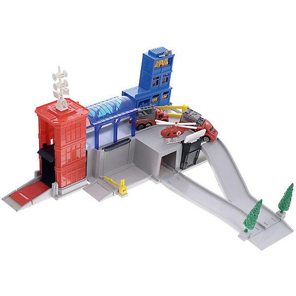 Пожарная станция Играем вместе, 3 машинки и вертолетПарковки и гаражи<br>Характеристики:<br><br>• возраст: от 3 лет;<br>• тип игрушки: пожарная станция;<br>• материал: пластик;<br>• цвет: красный, синий;<br>• размер: 41х29х8 см;<br>• вес: 1,03 кг;<br>• комплект: 3 машины, 1 вертолет;<br>• страна производитель: Россия.<br><br><br>Пожарная станция  с 3-мя машинками и вертолетом - это чудесный набор для юных борцов огнем.  Такая игрушка придется по вкусу мальчикам от трех лет, которые мечтают стать пожарными. Набор поможет маленькому герою поиграть в настоящего пожарника, развить воображение и фантазию – попробовать себя в роли спасателя.<br><br>Игрушки сделаны из высококачественного пластика и красок, поэтому  все элементы набора не опасны для ребенка.  Пожарную  станцию  с 3-мя машинками и вертолетом  можно купить в нашем интернет-магазине.<br>Ширина мм: 410; Глубина мм: 290; Высота мм: 80; Вес г: 1030; Возраст от месяцев: 36; Возраст до месяцев: 84; Пол: Мужской; Возраст: Детский; SKU: 7134887;