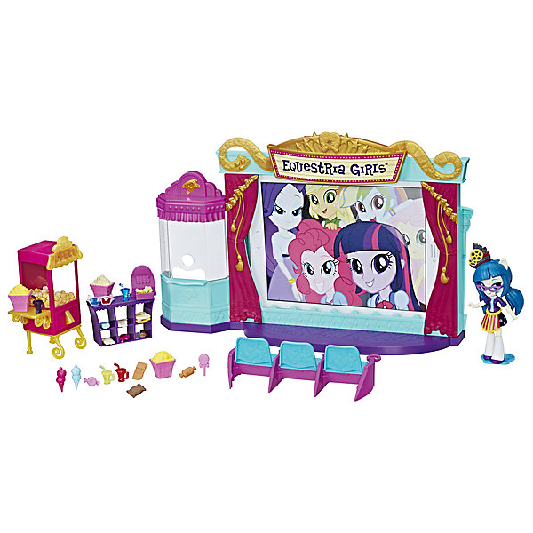 Hasbro Игровой набор с мини-куклами Hasbro Equestria Girls, Кинотеатр мини кинотеатр digma dimagic kids белый синий