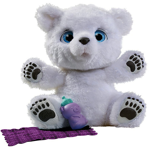Интерактивная игрушка Hasbro FurReal Friends, Полярный медвежонокИнтерактивные животные<br>Характеристики:<br><br>• тип игрушки: мишка;<br>• возраст: от 4 лет;<br>• вес: 658 гр; <br>• комплектация: интерактивный полярный медвежонок, бутылочка для кормления, одеяльце, инструкция;<br>• материал: плюш, текстиль, пластик;<br> • тип батареек: 3 х A76 / LR44 1.5V (миниатюрные); <br>• наличие батареек: входят в комплект;<br>• упаковка: картонная коробка открытого типа;<br>• размер: 13,5х27,9х27,9 см;<br>• бренд: Hasbro.<br><br>Полярный Медвежонок, Hasbro, Furreal - новинка в мире игрушек, способная порадовать детей своими невероятными функциями, воспитать в них чувство ответственности и внимательность. Этот забавный пушистый зверек обладает массой удивительных функций: он незамедлительно реагирует на прикосновения очень милыми всхлипываниями, уморительно чихает, а также издает аутентичные детенышу полярного медведя звуки.<br><br>Мишка может проявлять различные эмоции. К примеру, когда питомец начнет капризничать, его необходимо погладить по голове или потрогать за носик, тогда интерактивный малыш будет издавать различные звуки, показывая, как он доволен. Помимо этого, его можно кормить из специальной бутылочки, входящей в комплект, а также укрывать его любимым небольшим одеяльцем.<br><br>Забавный чихающий медвежонок Фуриал Френдс - игрушка высочайшего качества, сделанная из самых качественных материалов. Работа дизайнеров над данным продуктом была проделана большая и кропотливая. Нельзя не отметить и изобретательность при изготовлении аксессуаров для белого мишки Фуриал. Вот, к примеру, бутылочка, которая выполнена в виде небольшого медведя или же одеяло, декорированное узорами в виде снежинок.<br><br>Полярного Медвежонока, Hasbro, Furreal можно купить в нашем интернет-магазине.<br>Ширина мм: 135; Глубина мм: 279; Высота мм: 279; Вес г: 658; Возраст от месяцев: 48; Возраст до месяцев: 2147483647; Пол: Женский; Возраст: Детский; SKU: 7137764;