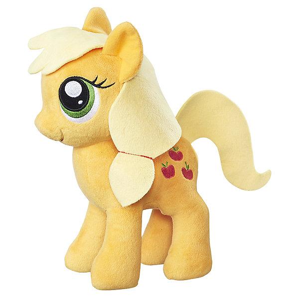 Мягкая игрушка Hasbro My little Pony Плюшевые пони, ЭплджекМягкие игрушки из мультфильмов<br>Характеристики:<br><br>• тип игрушки: фигурка;<br>• возраст: от 3 лет;<br>• вес: 186 гр; <br>• цвет: желтый;<br>• материал: плюш;<br>• размер: 16х8х24 см;<br>• бренд: Hasbro.<br><br>Плюшевые Пони Маленькие, Hasbro, My Little Pony  представляет из себя красивую лошадку, которая порадует девочек от трех лет. Мягкая игрушка выполнена из плюша. Грива и хвост игрушки выполнены из ткани. Знак и глаза на красивой фигурке вышиты. Игрушка выполнена из качественных и безопасных материалов, поэтому рекомендована для детей.<br><br>В серии представлены несколько игрушек из плюша, разных цветов. Поэтому ребенок сможет собрать целую коллекцию волшебных лошадок.<br><br>Плюшевые Пони Маленькие, Hasbro, My Little Ponyможно купить в нашем интернет-магазине.<br>Ширина мм: 80; Глубина мм: 160; Высота мм: 240; Вес г: 186; Возраст от месяцев: 36; Возраст до месяцев: 2147483647; Пол: Женский; Возраст: Детский; SKU: 7137781;