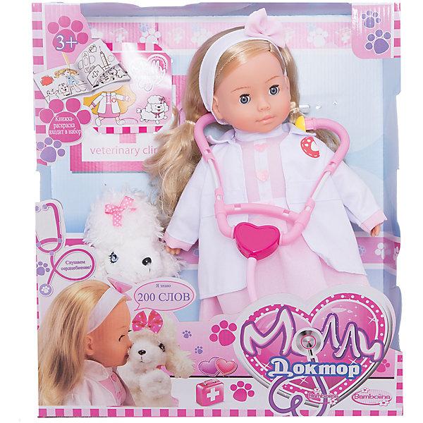 Dimian Интерактивная кукла Dimian Bambolina. Доктор Молли с собачкой, 40 см