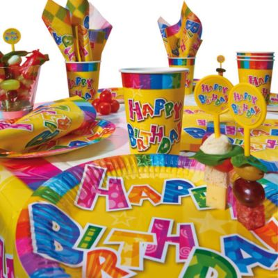 Набор одноразовой посуды для пикника Susy Card  Happy Birthday , 31предмет, артикул:7139140 - Сервировка праздничного стола