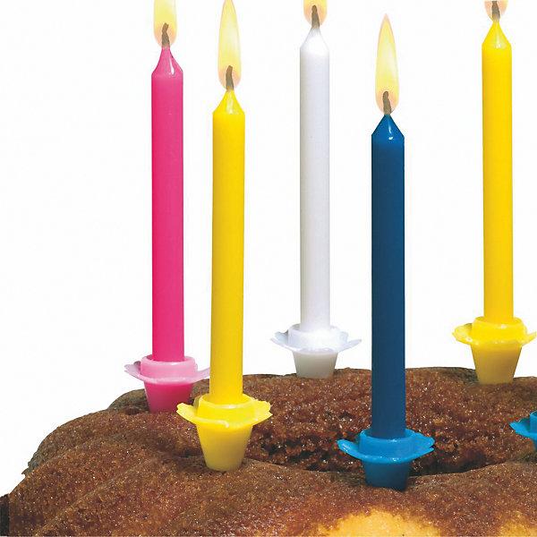 Свечи д/торта разноцветные  24шт  с подсвечниками.Детские свечи для торта<br>Свечи д/торта  24 штуки. В набор входит  24 подсвечника. Изготовлены из высококачественного парафина.<br>Ширина мм: 14; Глубина мм: 35; Высота мм: 105; Вес г: 55; Возраст от месяцев: 36; Возраст до месяцев: 2147483647; Пол: Унисекс; Возраст: Детский; SKU: 7139164;
