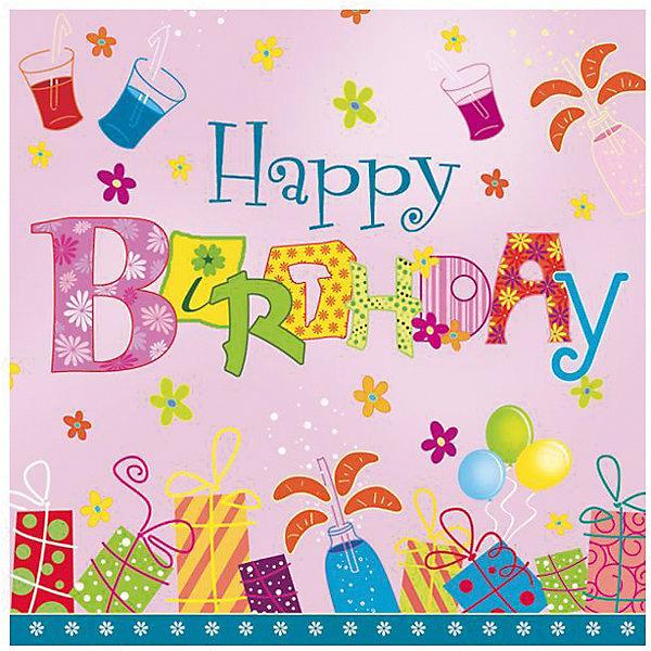 Фотография товара салфетки сервиров.Maki Happy Birthday (7139204)