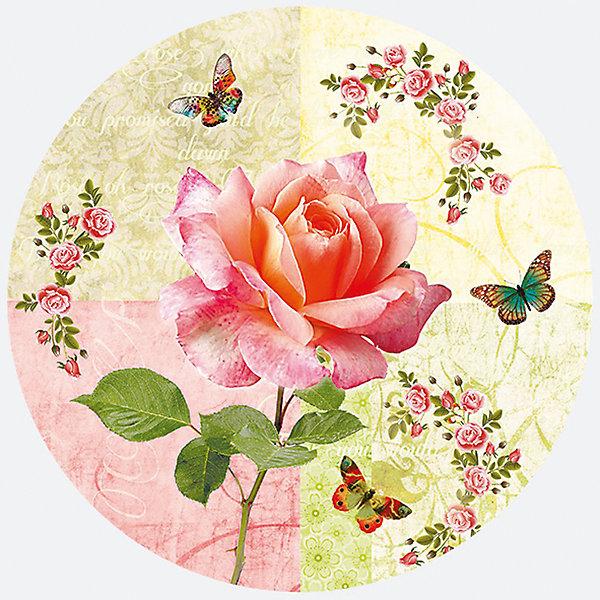 Susy Card Тарелки Susy Card Роза и бабочки 23 см., 8 шт