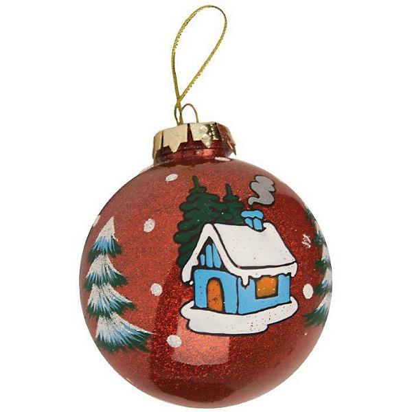 ёл. укр. GRANDE шар новогоднее настроение с блестками внутри  8 см., 1шт, красныйЁлочные игрушки<br>Характеристики:<br><br>• тип игрушки: елочное украшение;<br>• размер: 8х8х8 см;<br>• цвет: красный;<br>• бренд: Marko Ferenzo;<br>• возраст: от 3 лет;<br>• вес: 3 гр;<br>• материал: пластик.<br><br>Елочное украшение «GRANDE» шар с блестками внутри  8 см., красный станет отличным дополнением к новогодним украшениям елки или интерьера дома к праздникам. Такое украшение станет актуальным подарком, который позволит заранее подготовиться к празднованию Нового года. С помощью него ребенок сможет сам поучаствовать в подготовке к празднику и украсить дом. <br><br>Эту игрушку может использовать ребенок от трех лет. Яркая елочная игрушка  представляет собой пластмассовый шар красочной расцветки. Внутри изделия имеются сверкающие блестки, дополняющие сказочный рисунок с заснеженным домиком и елочками. Материал, из которого сделан шар является небьющимся, поэтому он сможет достаточно долго прослужить в качестве новогоднего украшения. Использование игрушек позволяет ребенку проявить свои творческие способности, пофантазировать или раскрыть талант.<br><br>Елочное украшение «GRANDE» шар с блестками внутри  8 см., красный можно купить в нашем интернет-магазине.<br>Ширина мм: 80; Глубина мм: 80; Высота мм: 80; Вес г: 3; Возраст от месяцев: 36; Возраст до месяцев: 2147483647; Пол: Унисекс; Возраст: Детский; SKU: 7140221;