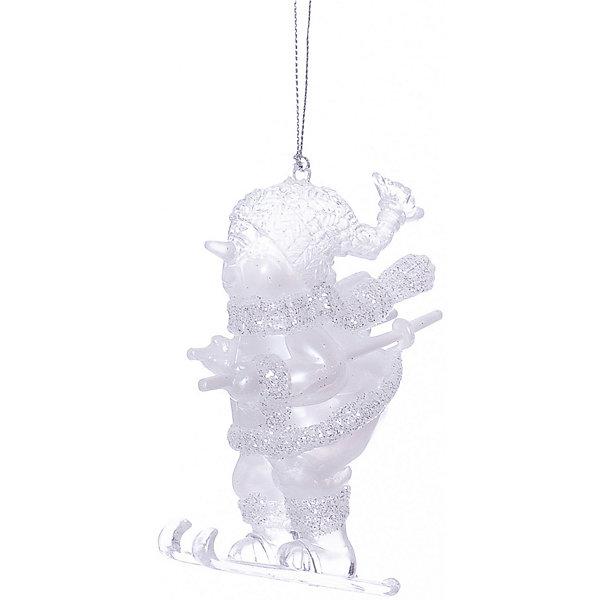 Marko Ferenzo ёл. укр. CLASSIC WHITE снеговик на лыжах, 11х7см, 1шт, белый marko ferenzo украшение детская сосулька флок 15 см