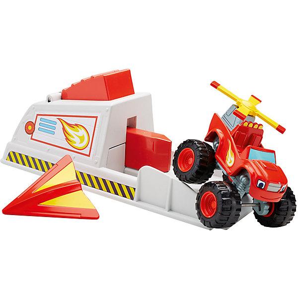 Mattel Игровой набор Mattel Fisher Price Вспыш и чудо-машинки, Вспыш с пусковым устройством машинка blaze вспыш и чудо машинки 8 см в ассортименте