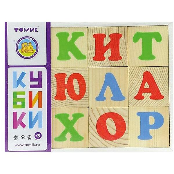 Томик Деревянные кубики Томик Алфавит 12 шт кубики томик домашние животные
