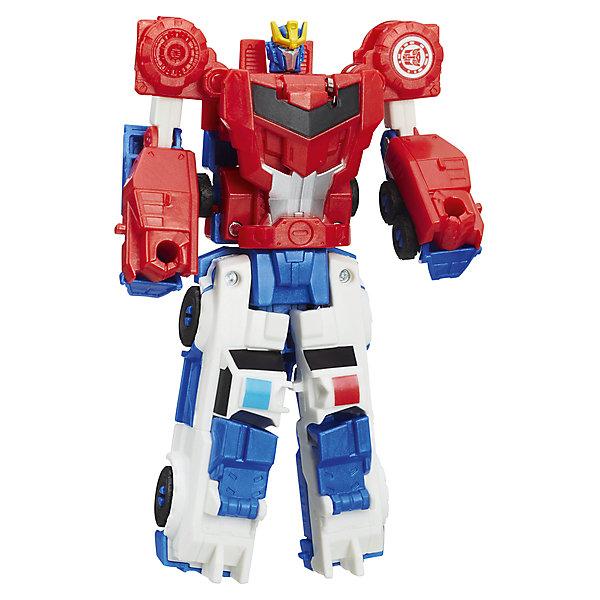 Hasbro Трансформеры Hasbro Transformers Роботы под прикрытием. Крэш-Комбайнер, Стронгарм-Оптимус Прайм hasbro трансформеры transformers крэш комбайнер гримлок и оптимус прайм