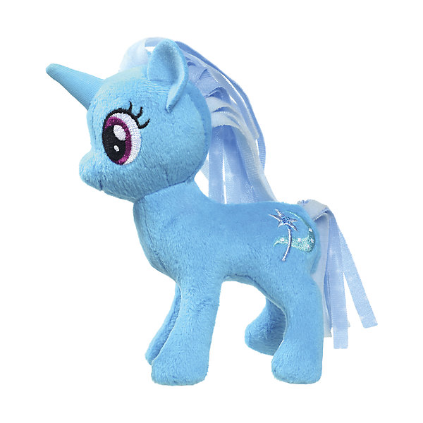 Hasbro Мягкая игрушка My little Pony Маленькие плюшевые пони, Трикси Луламун 13 см