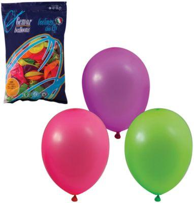 Воздушные шары 10 Веселая затея 100 шт, 25 см (12 цветов неон), артикул:7142879 - Украшения для детского праздника