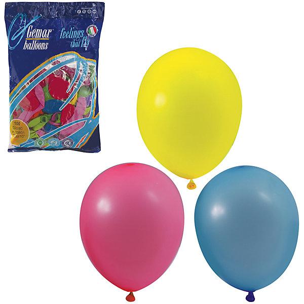 Веселая Затея Воздушные шары 10 Веселая затея 100 шт, 25 см (12 цветов пастель)
