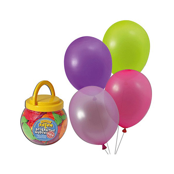 Веселая Затея Воздушные шары 10 Веселая затея 200 шт, 25 см (12 цветов неон)
