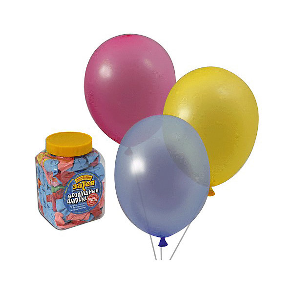 Веселая Затея Воздушные шары 10 Веселая затея 200 шт, 25 см (14 цветов пастель)