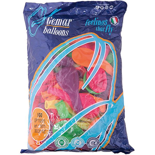 Воздушные шары 12 Веселая затея 100 шт, 30 см (12 цветов неон)Воздушные шары<br>Характеристики товара:<br><br>• возраст: от 3 лет;<br>• упаковка: пакет с хедером;<br>• количество шаров: 100 шт.;<br>• диаметр: 30 см.;<br>• цвет: мульти неон;<br>• состав: латекс 100%;<br>• бренд, страна: Веселая Затея, Россия;<br>• страна-производитель: Италия.<br><br>Набор из 100 шаров 12-ти неоновых цветов помогут ярко украсить комнату и подарят заряд радости и позитива всем гостям вашего торжества. Благодаря использованию специальных пигментов, входящим в состав, шары светятся в темноте, в ультрафиолетовом освещении.<br><br>Насыщенный цвет, легкое надувание и высококачественные материалы выгодно отличают их среди других праздничных аксессуаров. Вы можете надувать шарики самостоятельно или воспользоваться насосом, который быстро справится с задачей. <br><br>Набор из 100 неоновых шаров, 12 неоновых цветов,  Веселая Затея  можно купить в нашем интернет-магазине.