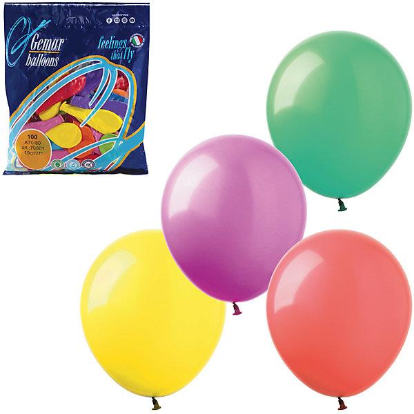 Купить Воздушные шары 7 Веселая затея 100 шт, 18 см (12 цветов пастель), Веселая Затея, Италия, Унисекс