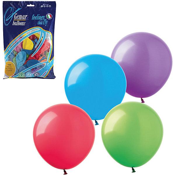 Веселая Затея Воздушные шары 9 Веселая затея 100 шт, 23 см (12 цветов пастель)