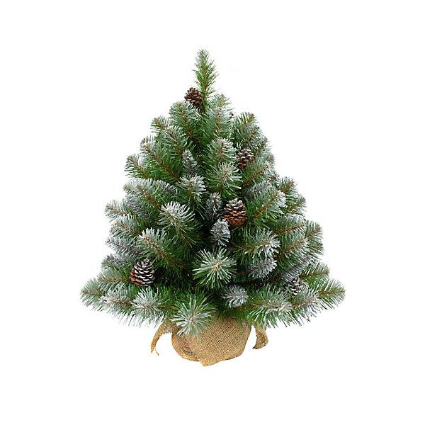 купить Triumph Tree Искусственная елка Triumph Tree Императрица. С шишками, заснеженная, 90 см (белая, зеленая) дешево