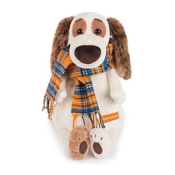 Budi Basa Мягкая игрушка Собака Бартоломей в шарфе, 27 см
