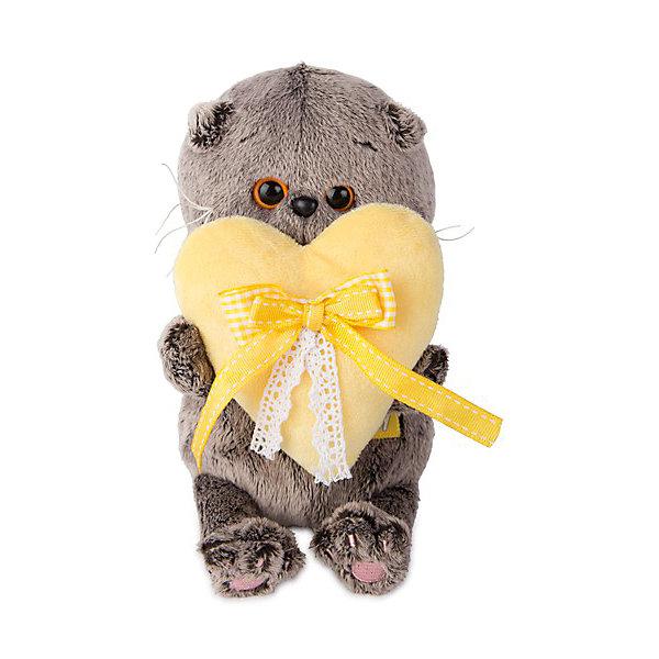 Budi Basa Мягкая игрушка Budi Basa Кот Басик Baby с сердечком, 20 см budi basa мягкая игрушка budi basa кот басик baby с ёлочкой 20 см