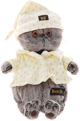 Мягкая игрушка Budi Basa Кот Басик в пижаме, 19 см, артикул:7143361 - Мягкие игрушки
