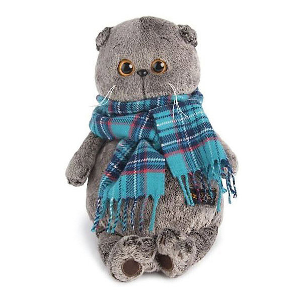Budi Basa Мягкая игрушка Budi Basa Кот Басик в изумрудном шарфе, 22 см
