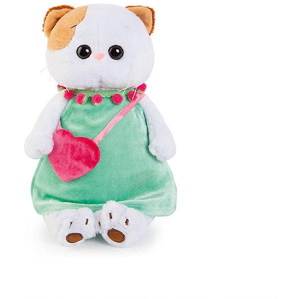 Мягкая игрушка Budi Basa Кошечка Ли-Ли в мятном платье с розовой сумочкой, 24 смМягкие игрушки животные<br>Характеристики товара:<br><br>• возраст: от 3 лет;<br>• материал: текстиль, искусственный мех;<br>• высота игрушки: 24 см;<br>• размер упаковки: 27х16х14 см;<br>• вес упаковки: 440 гр.;<br>• страна производитель: Россия.<br><br>Мягкая игрушка «Ли-Ли в мятном платье с розовой сумочкой» Budi Basa — очаровательная пушистая белоснежная кошечка с большими глазками и оранжевыми ушками. Ли-Ли одета в голубое платье, а образ кошечки дополняет яркая розовая сумочка. Игрушка выполнена из качественного безопасного материала, настолько приятного и мягкого, что ребенок будет брать с собой котенка в кроватку и спать в обнимку.<br><br>Мягкую игрушку «Ли-Ли в мятном платье с розовой сумочкой» Budi Basa можно приобрести в нашем интернет-магазине.<br>Ширина мм: 27; Глубина мм: 16; Высота мм: 14; Вес г: 440; Возраст от месяцев: 36; Возраст до месяцев: 84; Пол: Женский; Возраст: Детский; SKU: 7143411;