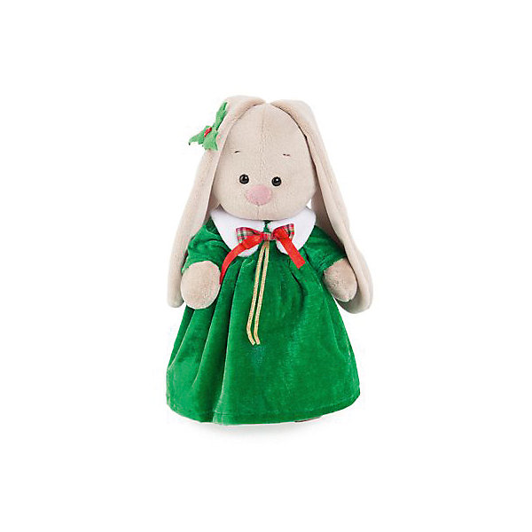 Budi Basa Комплект одежды Budi Basa для Зайки Ми, 32 см, зеленое рождественнское платье и листочек на ухо плюшевая маска зайки uni