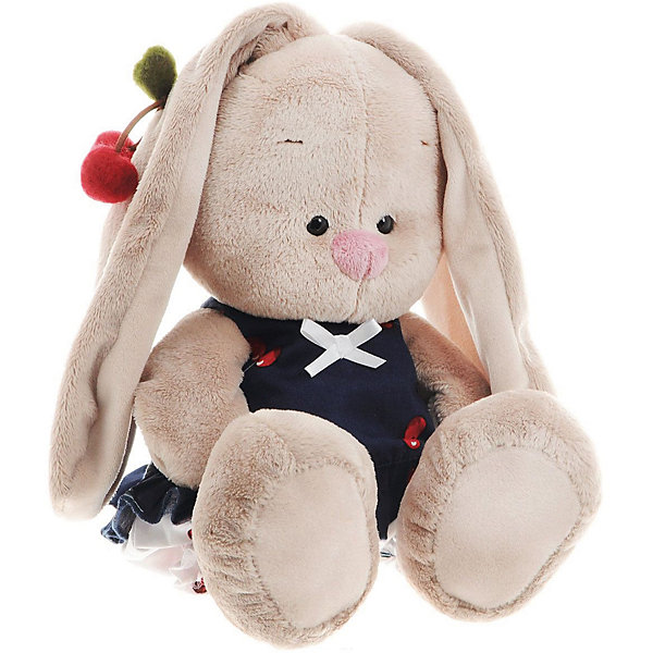 Мягкая игрушка Budi Basa Зайка Ми в костюмчике и с войлочной вишней, 32 смМягкие игрушки зайцы и кролики<br><br>Ширина мм: 18; Глубина мм: 17; Высота мм: 18; Вес г: 466; Возраст от месяцев: 36; Возраст до месяцев: 84; Пол: Женский; Возраст: Детский; SKU: 7143450;