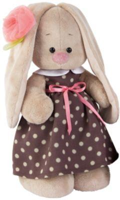 Мягкая игрушка Budi Basa Зайка Ми в кофейном платье и цветком на ушке, 32 см, артикул:7143451 - Мягкие игрушки