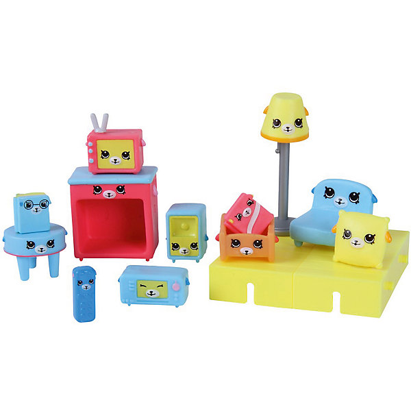 Игровой набор Moose Shopkins Счастливые места Щенки для гостинойИгровые наборы с фигурками<br>Характеристики товара:<br><br>• возраст: от 5 лет;<br>• количество фигурок:  15 шт;<br>• материал: пластик;<br>• упаковка: коробка блистерного типа;<br>• размер упаковки: 20х27,5х4 см.;<br>• вес: 230 гр.;<br>• наименование бренда, страна бренда: Moose (Мус), Австалия;<br>• страна изготовитель: Китай.<br><br>Набор для декора «Щенки для гостиной» Happy Places - комплект включает в себя фигурки из серии Petkins разных размеров и строительные блоки, которые являются одними из деталей дома, красочный каталог и волшебная коробочка с сюрпризом (3 секретные фигурки дополнительно). <br><br>Кресло, торшер, книжная полка, столик, телевизор, подушки и другие аксессуары и предметы мебели Петкинс с забавными мордочками щеночков создадут в гостиной уют и неповторимую атмосферу. Здесь куколки могут устраивать посиделки за просмотром любимого сериала.<br><br>Из маленьких пластиковых фигурок Petkins можно собирать большую коллекцию и придумывать различные интересные сюжеты для игры с ними. Отличное решение для развлечения с ребенком во время досуга.<br><br>Набор для декора «Щенки для гостиной» Happy Places,  Moose (Мус) можно купить в нашем интернет-магазине.<br>Ширина мм: 275; Глубина мм: 40; Высота мм: 200; Вес г: 230; Возраст от месяцев: 60; Возраст до месяцев: 2147483647; Пол: Женский; Возраст: Детский; SKU: 7143865;