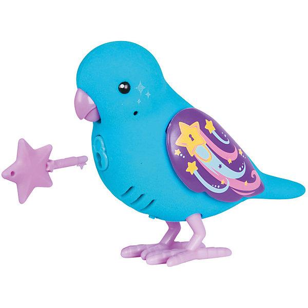 Moose Интерактивная птичка Moose Little Live Pets Wishy Star, голубая (звук, запись) moose интерактивная игрушка цыпленок в яйце с домиком
